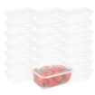 Picture of 500 Pcs 750ml Take Away Food Platstic Containers Boxes Base and Lids Bulk Pack | Free Delivery