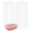 Picture of 500 Pcs 1000ml Take Away Food Platstic Containers Boxes Base and Lids Bulk Pack | Free Delivery