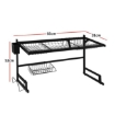 Picture of Dish Drying Rack Over Sink Stainless Steel Black Dish Drainer Organizer 2 Tier | Free Delivery