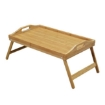 Picture of Wooden Folding Tray Bamboo Fold Up Lap Tray Tea Coffee Table Breakfast | Free Delivery