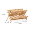 Picture of Dish Rack Bamboo Foldable Drainer Drying Dish Holder Plate Utensil Cultery Tray | Free Delivery
