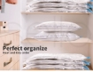 Picture of Vacuum Storage Bags Save Space Seal Compressing Clothes Quilt Organizer 8PCS | Free Delivery
