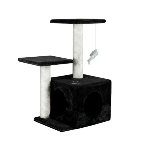 Picture of PaWz Cat Scratching Post Tree 0.6M Gym Home Condo Furniture Scratcher Pole Black | Free Delivery