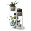 Picture of 6 Tier Plant Stand Swivel Outdoor Indoor Metal Stands Flower Shelf Rack Garden White | Free Delivery