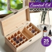 Picture of Essential Oil Storage Box Wooden 25 Slots Aromatherapy Container Organiser | Free Delivery