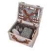 Picture of 4 Person Picnic Basket Baskets Set Outdoor Blanket Deluxe Wicker Gift Storage | Free Delivery