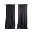 Picture of 2X Blockout Curtains Curtain Blackout Bedroom 132cm x 213cm Dark Grey   Free Delivery