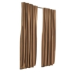 Picture of 2X Blockout Curtains Curtain Blackout Bedroom 132cm x 213cm Mustard | Free Delivery