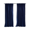 Picture of 2X Blockout Curtains Curtain Blackout Bedroom 132cm x 213cm Navy | Free Delivery