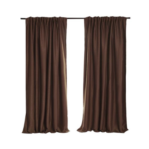 Picture of 2X Blockout Curtains Curtain Blackout Bedroom 132cm x 213cm Stone   Free Delivery