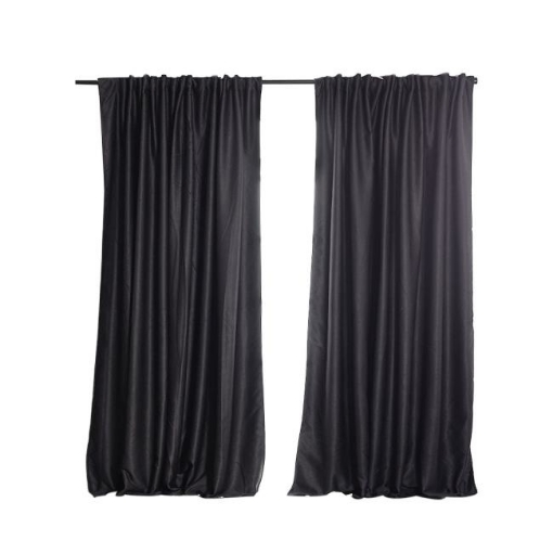 Picture of 2X Blockout Curtains Curtain Blackout Bedroom 180cm x 230cm Dark Grey | Free Delivery