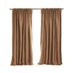 Picture of 2X Blockout Curtains Curtain Blackout Bedroom 180cm x 230cm Mustard | Free Delivery