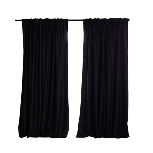 Picture of 2X Blockout Curtains Curtain Blackout Bedroom 240cm x 230cm Black | Free Delivery