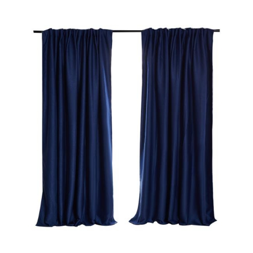 Picture of 2X Blockout Curtains Curtain Blackout Bedroom 240cm x 230cm Navy | Free Delivery