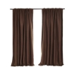 Picture of 2X Blockout Curtains Curtain Blackout Bedroom 240cm x 230cm Stone   Free Delivery