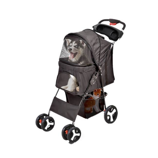 Picture of PaWz 4 Wheels Pet Stroller Dog Cat Cage Puppy Pushchair Travel Walk Carrier Pram | Free Delivery