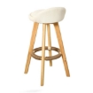 Picture of 2x Levede Fabric Swivel Bar Stool Kitchen Stool Dining Chair Barstools Cream | Free Delivery