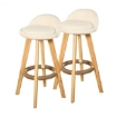 Picture of 4x Levede Fabric Swivel Bar Stool Kitchen Stool Dining Chair Barstools Cream | Free Delivery