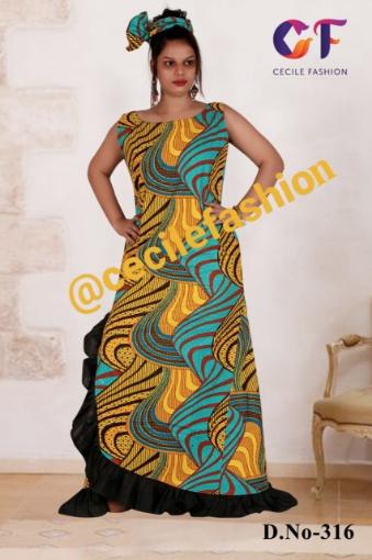 Evening gown ankara dress
