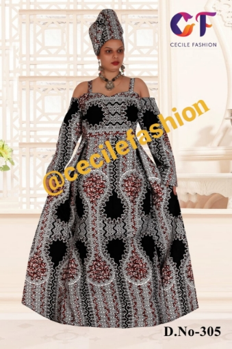 Lux ankara off shoulder dress