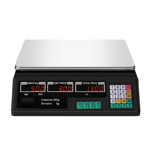 Picture of Commercial Digital Kitchen Scales LCD Shop 40KG Food Weight Electronic Scale | Free Delivery