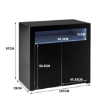 Picture of Levede Buffet Sideboard Storage Cabinet Modern High Gloss Furniture LED Black | Free Delivery