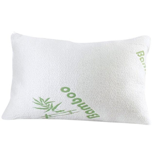 Picture of 2x DreamZ Luxury Natural Memory Foam Bed Pillows Bamboo Fabric Cover 70x40cm | Free Delivery