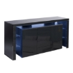 Picture of Levede Buffet Sideboard Cabinet Storage Modern High Gloss Cupboard Drawers Black 192cm | Free Delivery