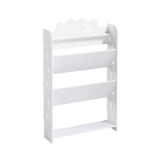 Picture of Levede 4 Tiers 43 Width Tilt Chic Hollow Shoe Rack Stand Storage Organiser Shelf | Free Delivery