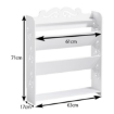 Picture of Levede 4 Tiers 63 Width Tilt Chic Hollow Shoe Rack Stand Storage Organiser Shelf   Free Delivery