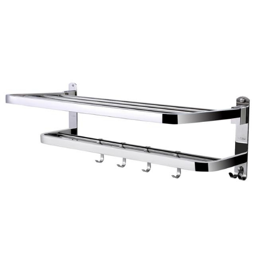 Picture of Towel Rail Rack Racks Ladder Shelf Bar Stainless Steel Wall Mounted Bathroom | Free Delivery