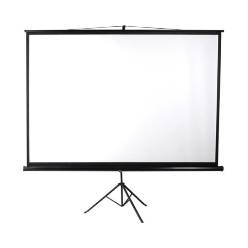 Picture of 100 Inch Projector Screen Tripod Stand Home Pull Down Outdoor Screens Cinema 3D | Free Delivery