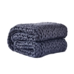 Picture of DreamZ Knitted Weighted Blanket Chunky Bulky Knit Throw Blanket 9KG Dark Grey | Free Delivery