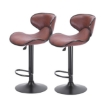 Picture of 2x Bar Stools Stool Kitchen Chairs Swivel PU Leather Industrial Furniture Brown   Free Delivery
