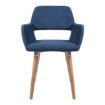 Picture of 2x Dining Chairs Seat French Provincial Lounge Contemporary Chair Blue | Free Delivery