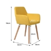 Picture of 2x Dining Chairs Seat French Provincial Lounge Contemporary Chair Yellow | Free Delivery