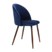 Picture of 2x Dining Chairs Seat French Provincial Kitchen Lounge Chair Navy | Free Delivery