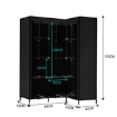 Picture of Levede Portable Clothes Closet Wardrobe Space Saver Storage Cabinet Black   Free Delivery