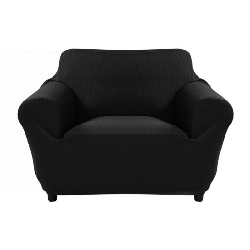 Picture of Sofa Cover Slipcover Protector Couch Covers 1-Seater Black | Free Delivery