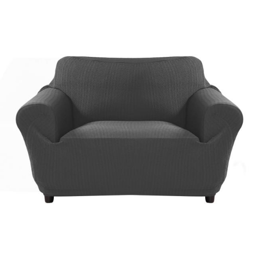Picture of Sofa Cover Slipcover Protector Couch Covers 2-Seater Dark Grey | Free Delivery