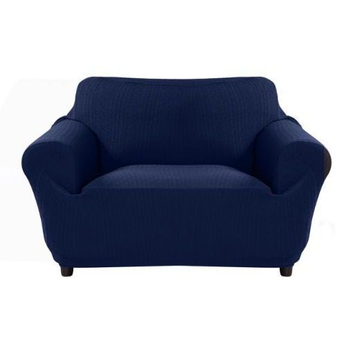 Picture of Sofa Cover Slipcover Protector Couch Covers 2-Seater Navy | Free Delivery
