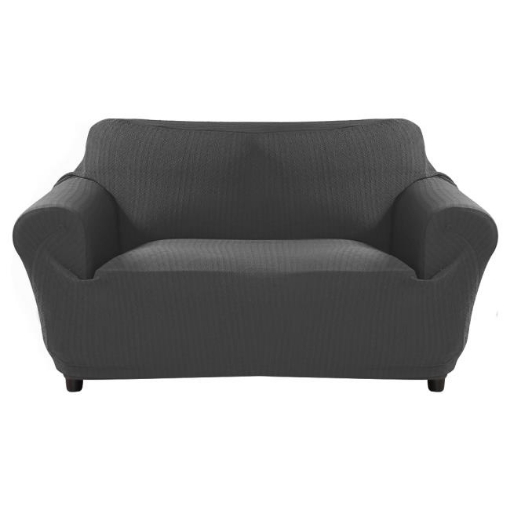 Picture of Sofa Cover Slipcover Protector Couch Covers 3-Seater Dark Grey | Free Delivery