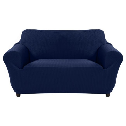 Picture of Sofa Cover Slipcover Protector Couch Covers 3-Seater Navy | Free Delivery