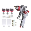 Picture of Spray Gun Paint Gun Kit HVLP Gravity Feed Air 3 Nozzles1.4mm 1.7mm 2mm Tips | Free Delivery