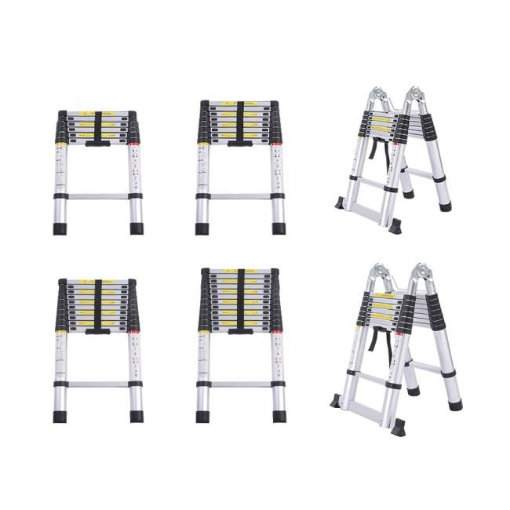 Picture of 2.6M Telescopic Aluminium Multipurpose Ladder Extension Alloy Extendable Step | Free Delivery
