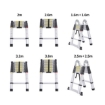 Picture of 1.6M+1.6M Telescopic Aluminium Multipurpose Ladder Extension Alloy Extendable Step | Free Delivery