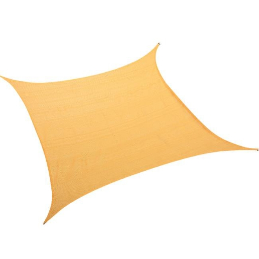 Picture of Sun Shade Sail Cloth Canopy ShadeCloth Outdoor Awning Cover Square Beige 5Mx5M | Free Delivery