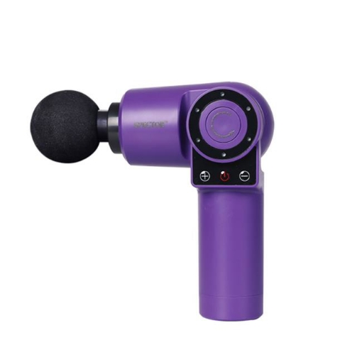Picture of Spector Massage Gun 90°Rotatable Pocket Massager Tissue Muscle Percussion Purple | Free Delivery