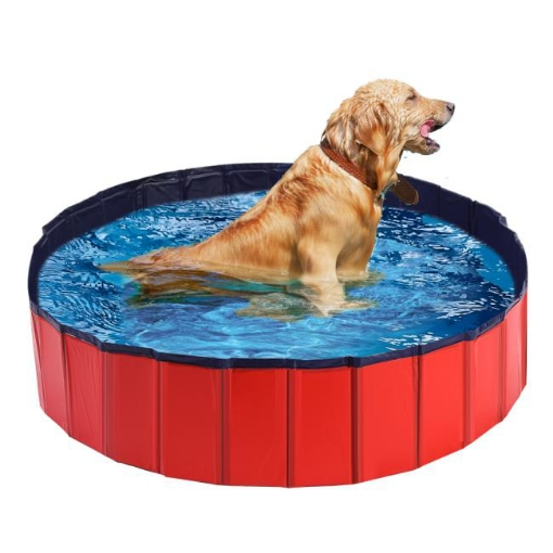 Picture of Pet Swimming Pool Dog Cat Animal Folding Bath Washing Portable Pond M | Free Delivery