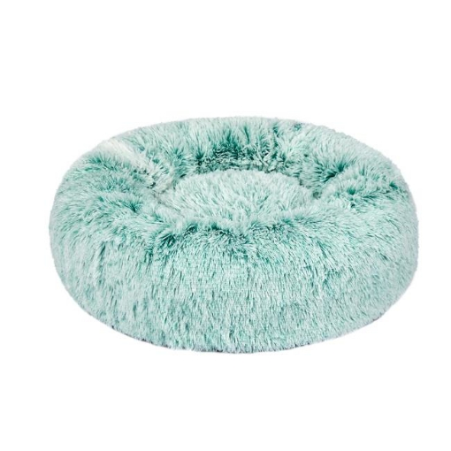 Picture of Pet Bed Cat Dog Donut Nest Calming Mat Soft Plush Kennel Teal L   Free Delivery